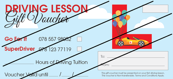 Driving Lesson Gift Vouchers in Sheffield, Chesterfield and Dronfield